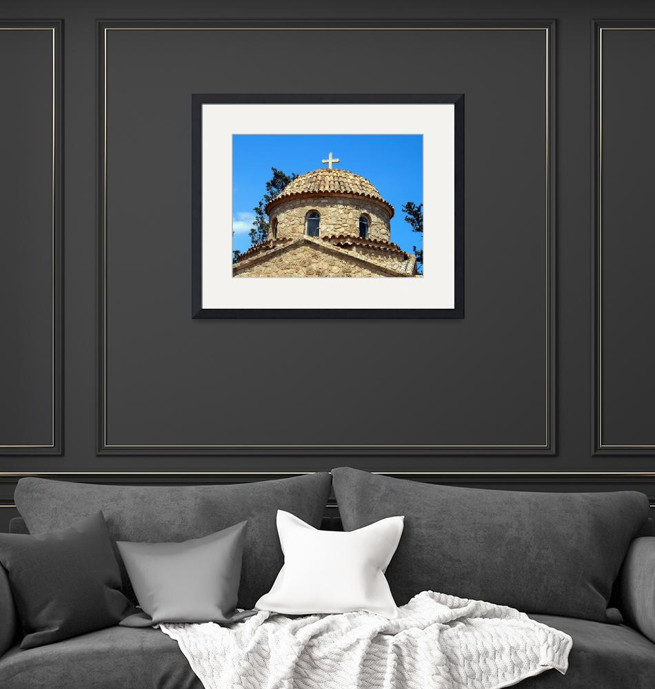 """""""Monastery of Saint Barnabas Dome""""  by Artsart"""