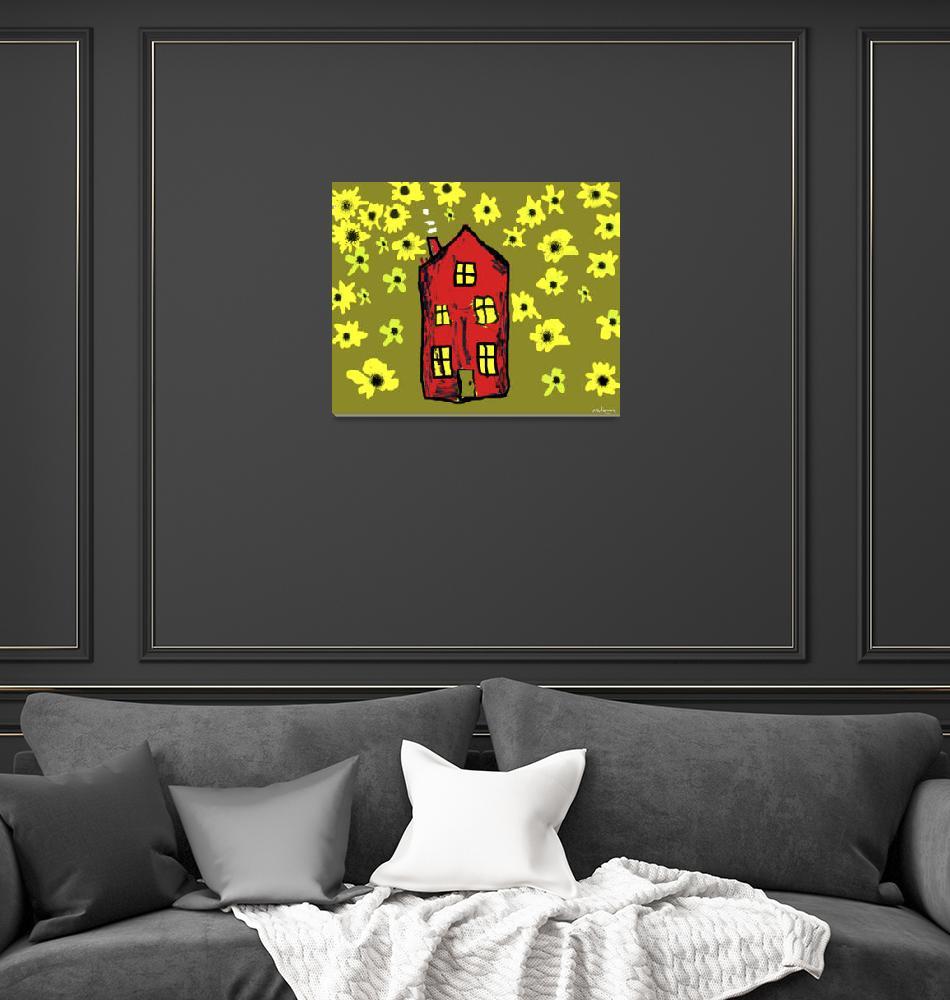 """Sunflower House""  (2012) by FlowersforMyLady"