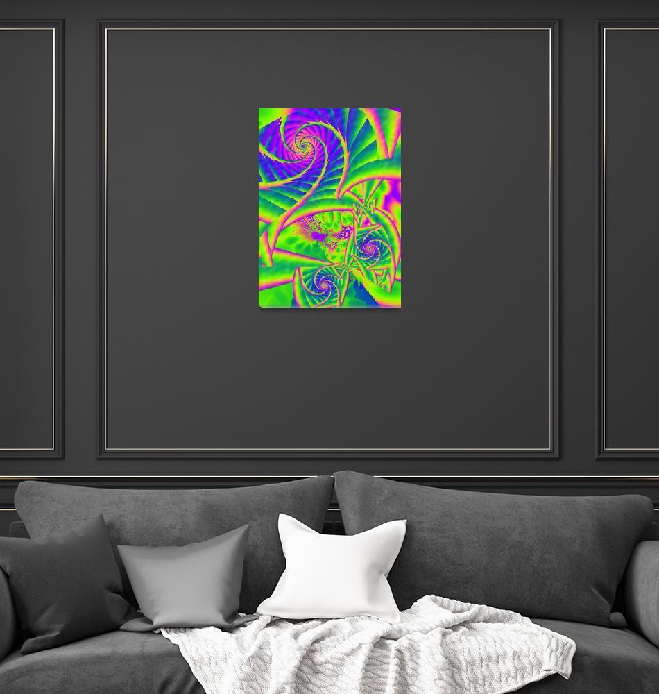 """""""Dingleberries Psychadelic Fractal Art""""  (2011) by ReneeLozenGraphics"""