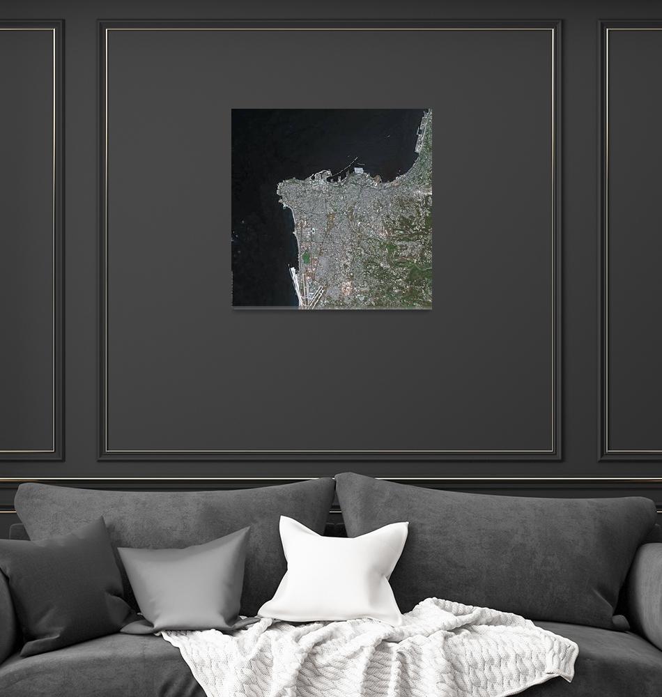 """Beirut (Lebanon) : Satellite Image""  (2003) by astriumgeo"