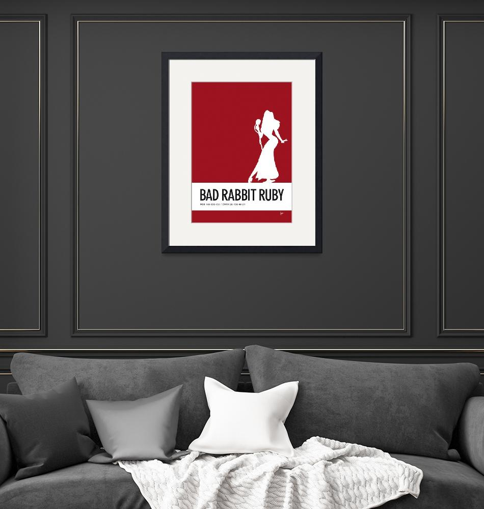 """No14 My Minimal Color Code poster Jessica Rabbit""  by Chungkong"