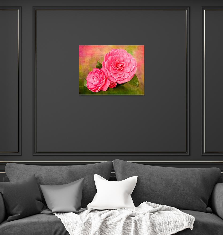 """""""Painterly Camellias""""  (2011) by LeslieNicole"""