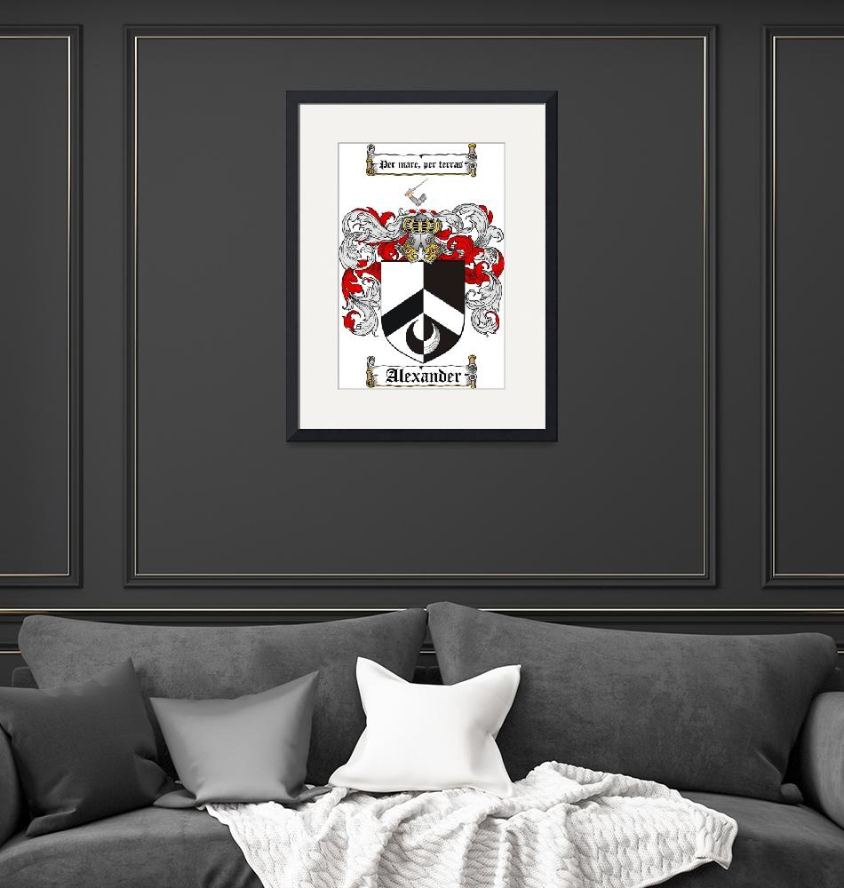 """""""alexander coat of arms / family crest""""  by coatofarms"""