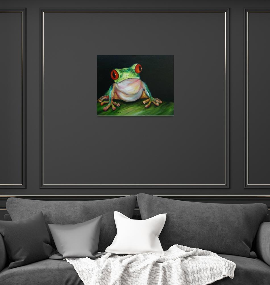 """""""Red Eyed Tree Frog""""  (2008) by artistamy"""