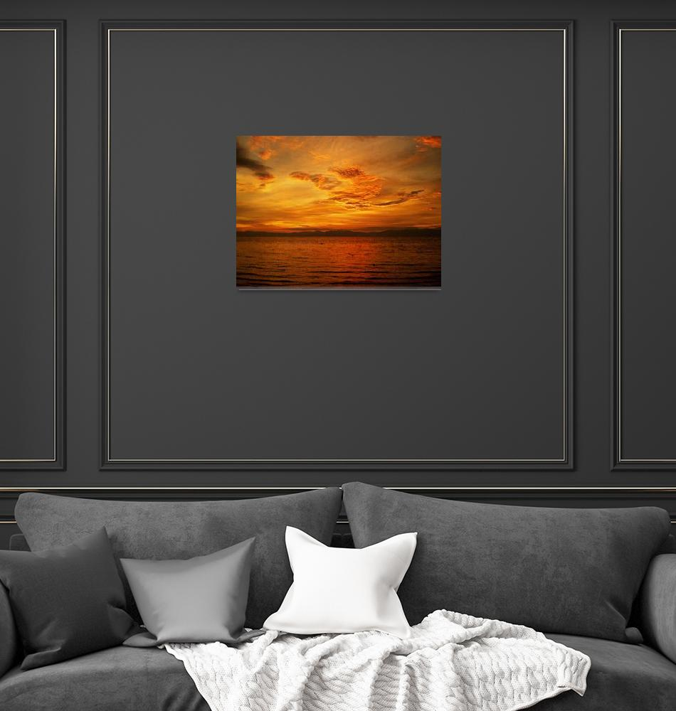 """""""red sunset no. 31 – the lacquered skies""""  (2010) by sunsetcolors"""