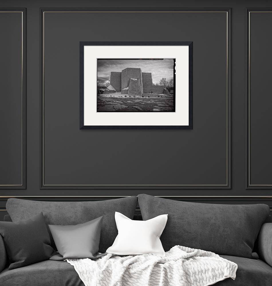 """""""Classic view: after a storm B&W""""  (2012) by TaosFineArtPhotography"""