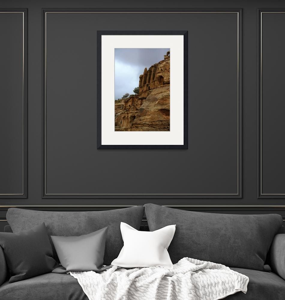 """""""Petra-Ancient Tombs Carved Into The Rocks 1168""""  (2010) by rayjacque"""
