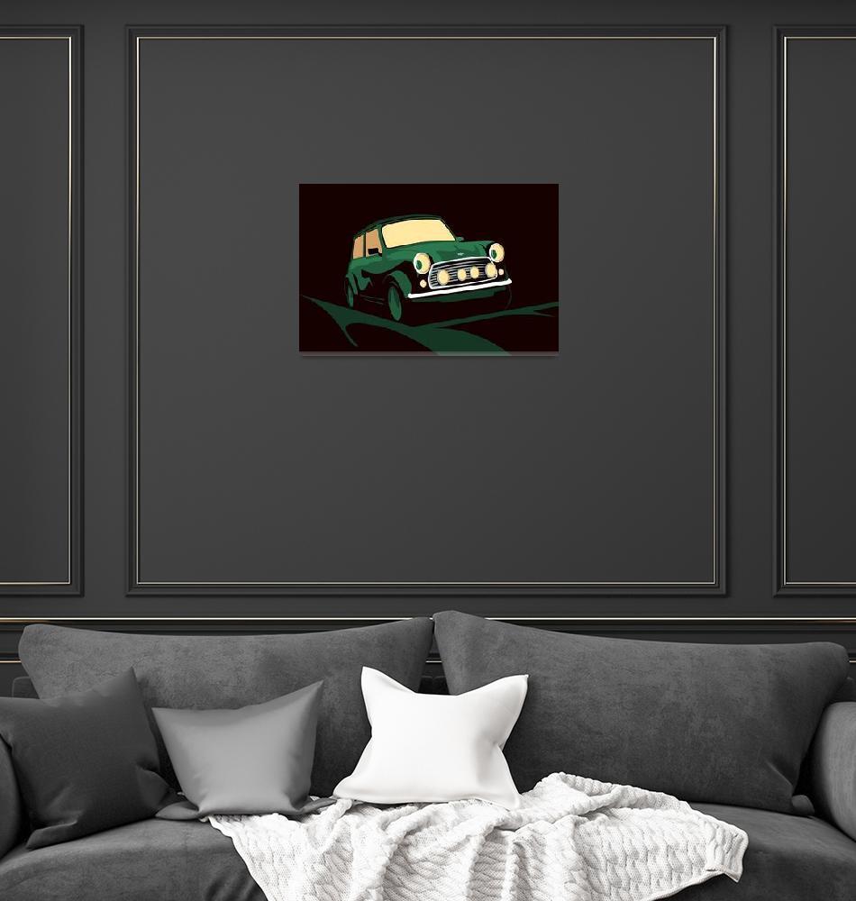 """""""Mini Cooper Green""""  (2012) by ModernArtPrints"""