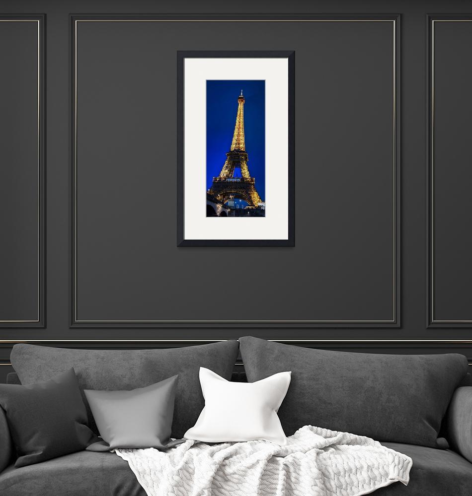 """""""Eiffel Tower Panorama""""  (2019) by JeanniesPhotography"""