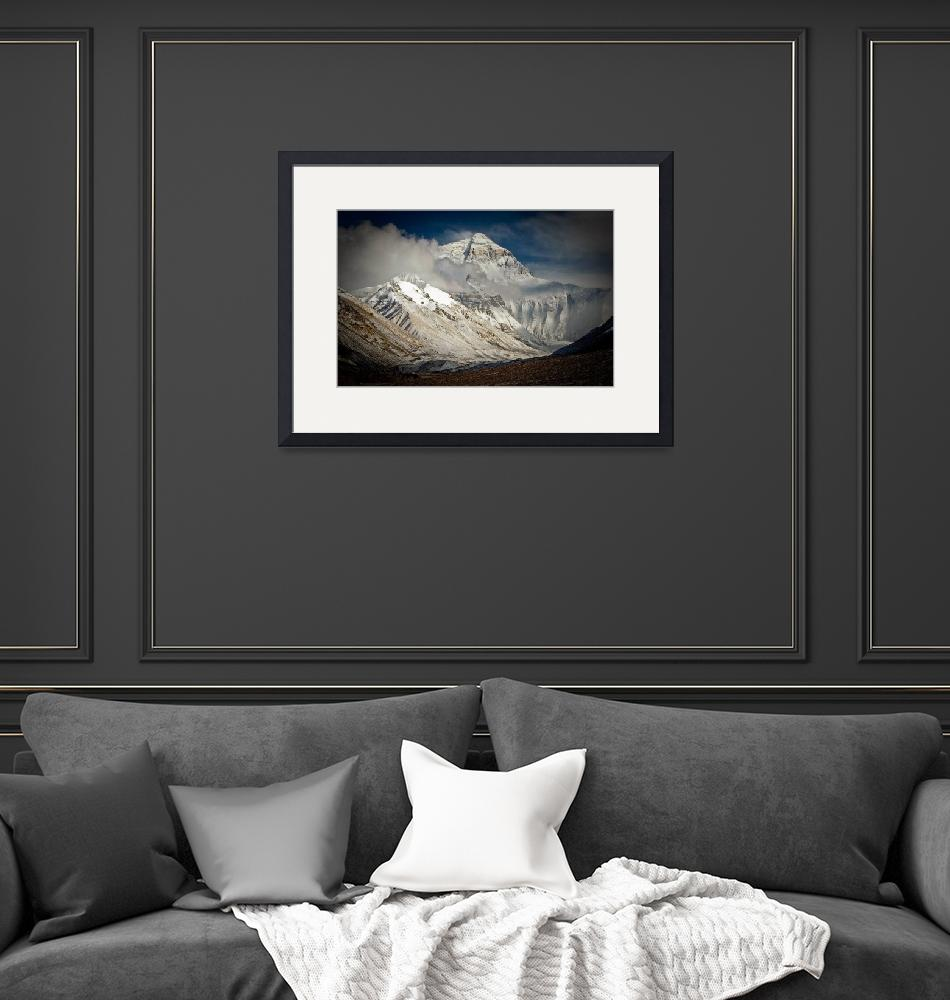 """""""Everest from Rongbuk, Tibet, after fresh snow""""  (2006) by ExposedPlanet"""