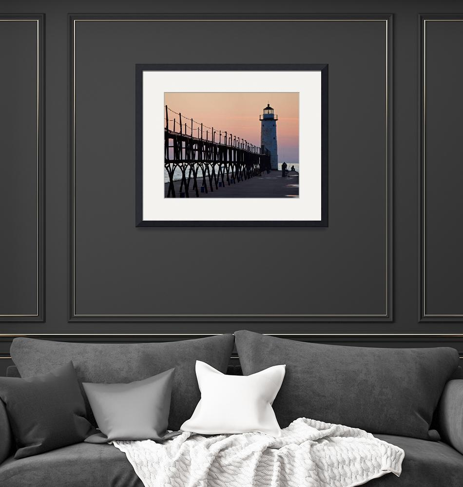 """""""Manistee, Michigan Pier and Lighthouse""""  by North22Gallery"""