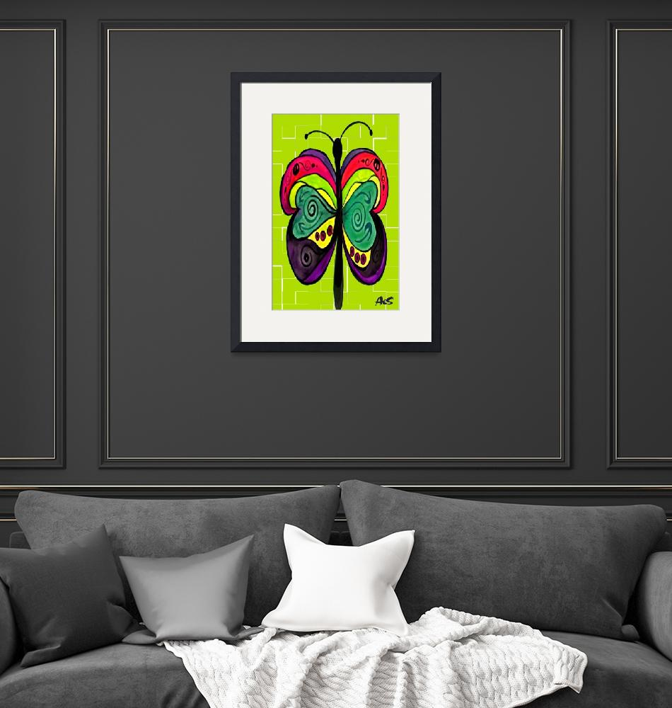 """""""ART DECO BUTTERFLY""""  (2005) by AES"""