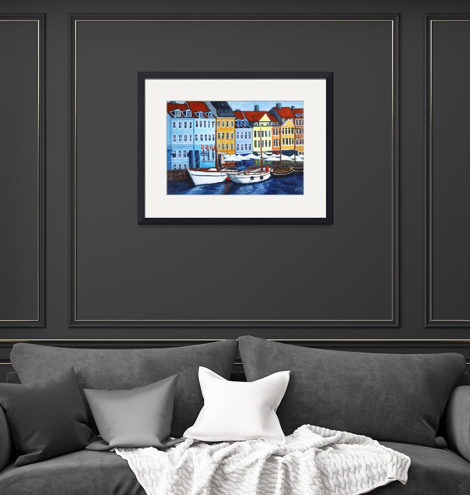 """Colors of Nyhavn I""  (2005) by LisaLorenz"