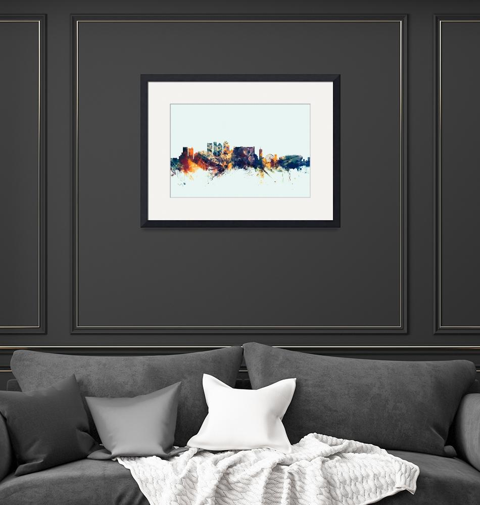 """Cape Town South Africa Skyline""  (2015) by ModernArtPrints"