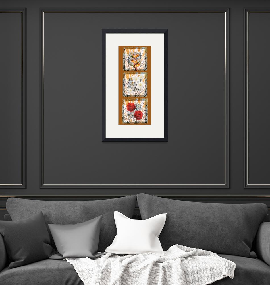 """""""Three compositions from colors on a poster""""  (2010) by milikArt"""