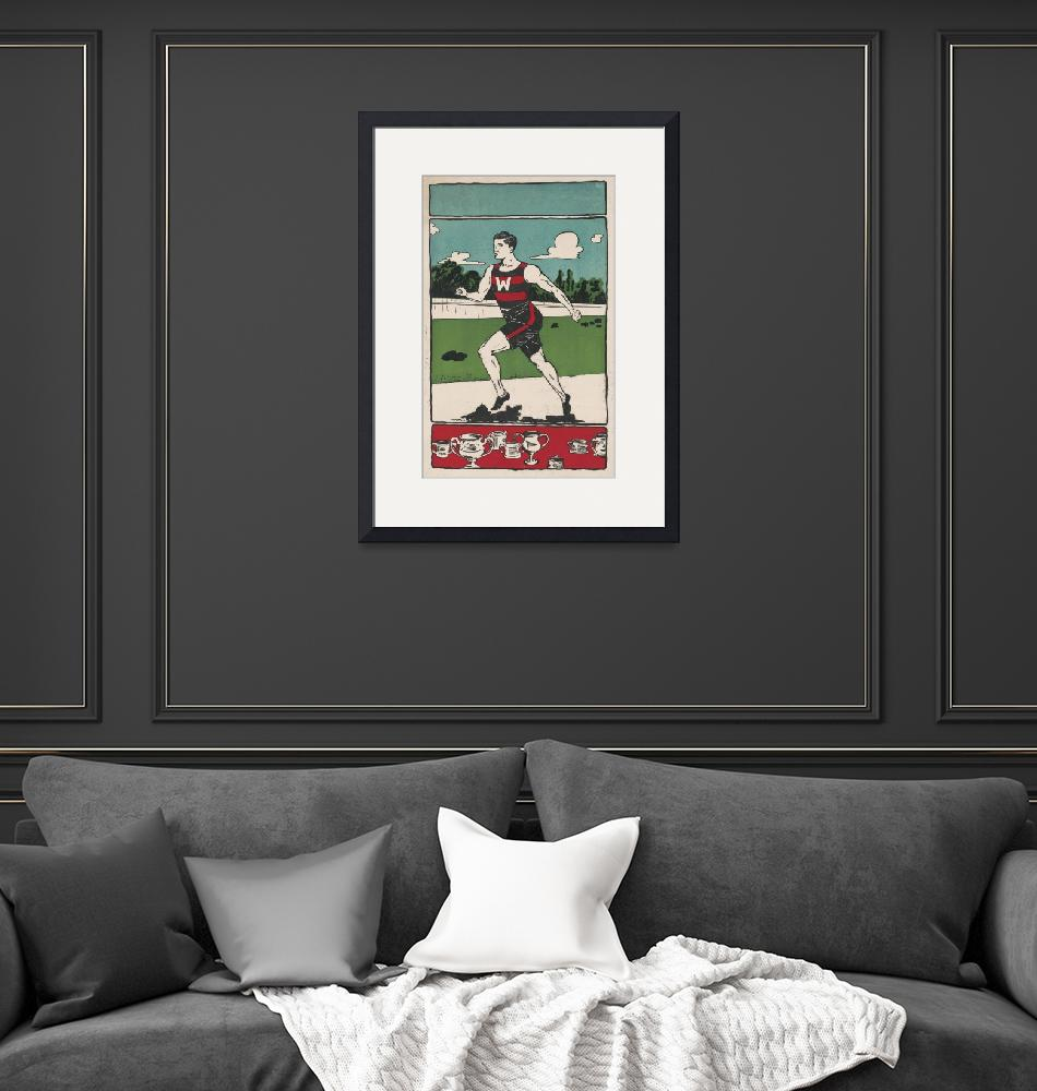 """Vintage Track Athlete Illustration (1903)""  by Alleycatshirts"