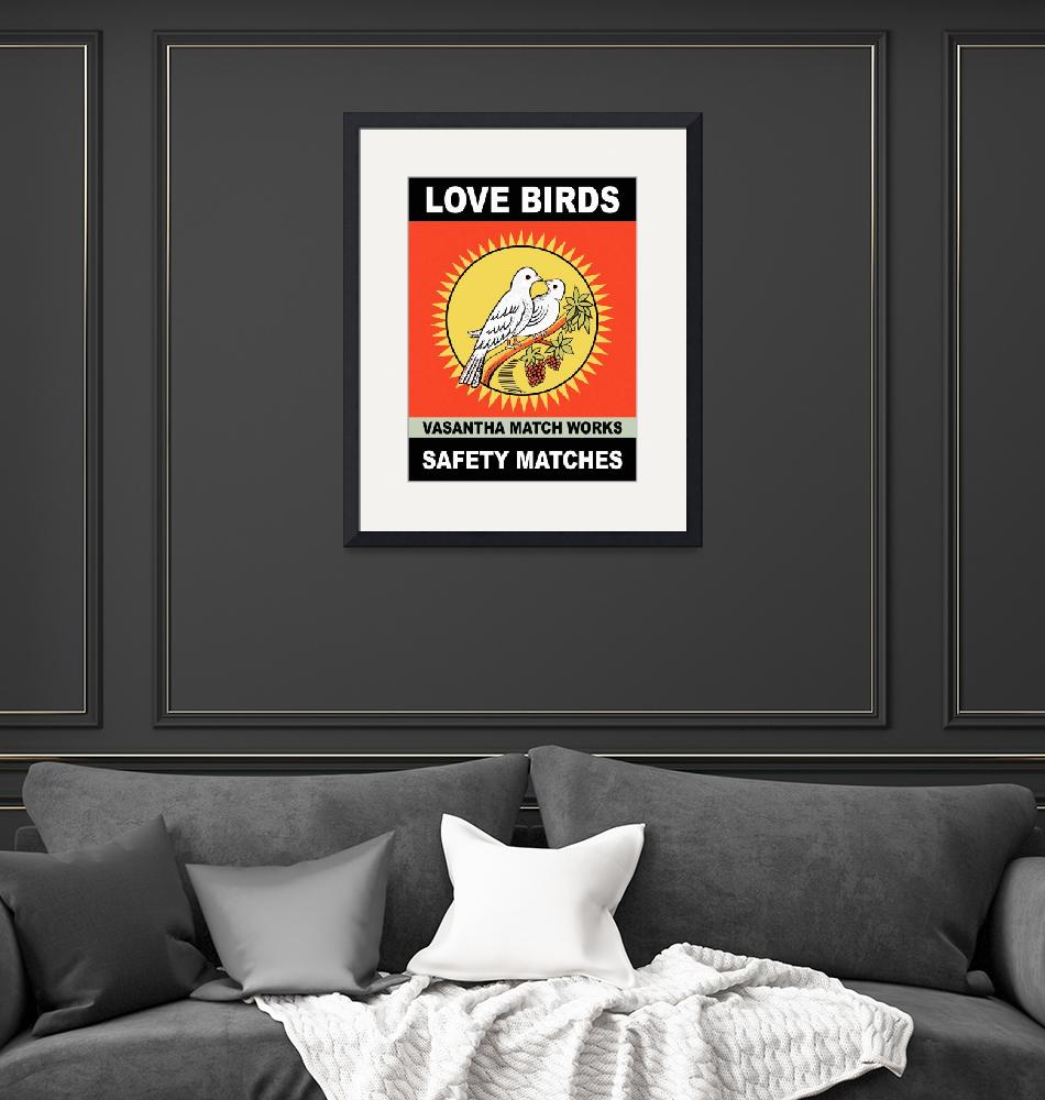 """The Love Birds Vintage Matchbox""  by mark-rogan"