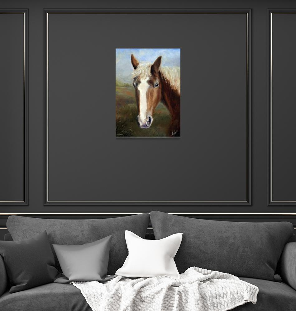 """Waiting for Dinah- Rescued Draft Horse by Violano""  (2008) by stella"