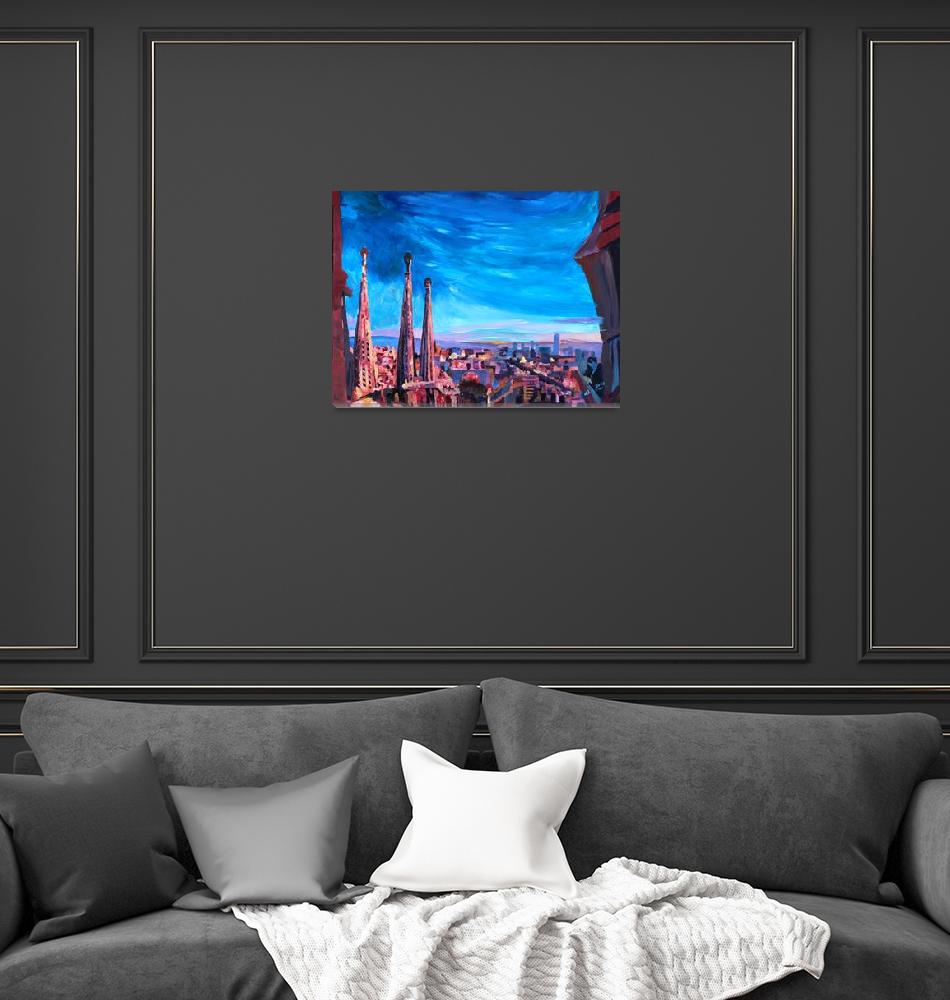 """Barcelona City View And Sagrada Familia""  (2013) by arthop77"