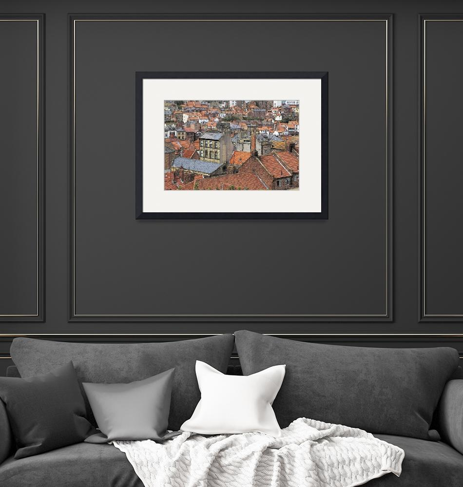 """""""Town Houses - Drawing""""  (2011) by WallArtDeco"""
