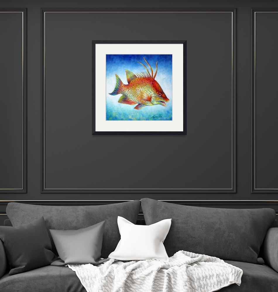 """""""Hogfish Snapper""""  (2010) by nancytilles"""