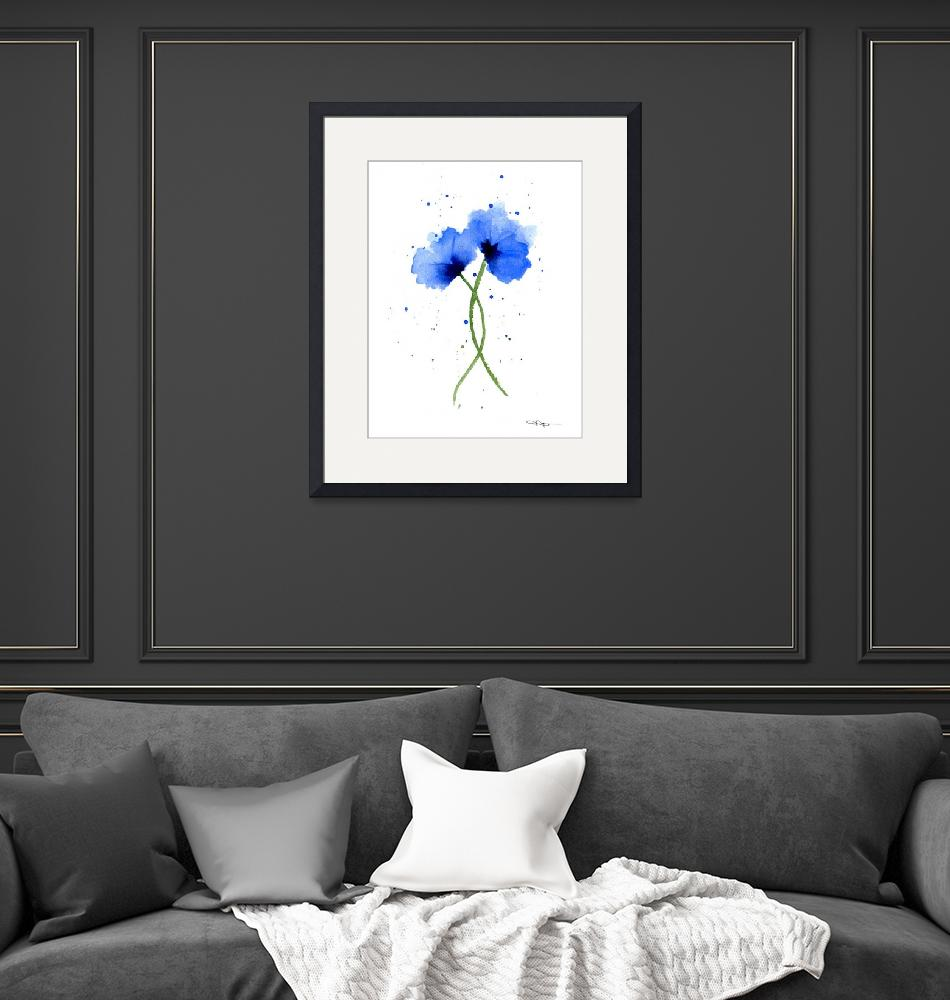 """poppies blue""  (2005) by k9artgallery"
