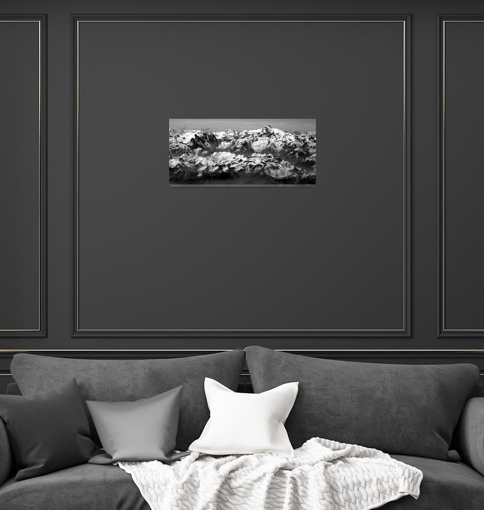 """Ismoil Somoni Peak Panorama 5""  (2006) by Liberando4Life"