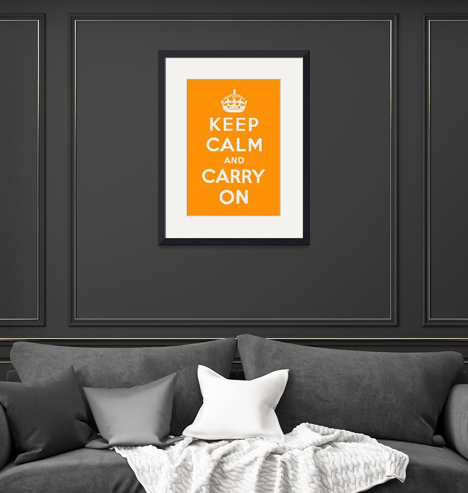 """""""Orange Keep Calm And Carry On 2""""  by oldies"""