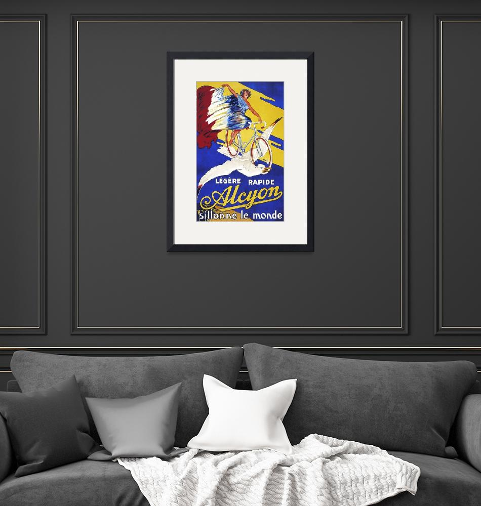 """""""Alcyon Vintage Bicycle Poster"""" by FineArtClassics"""