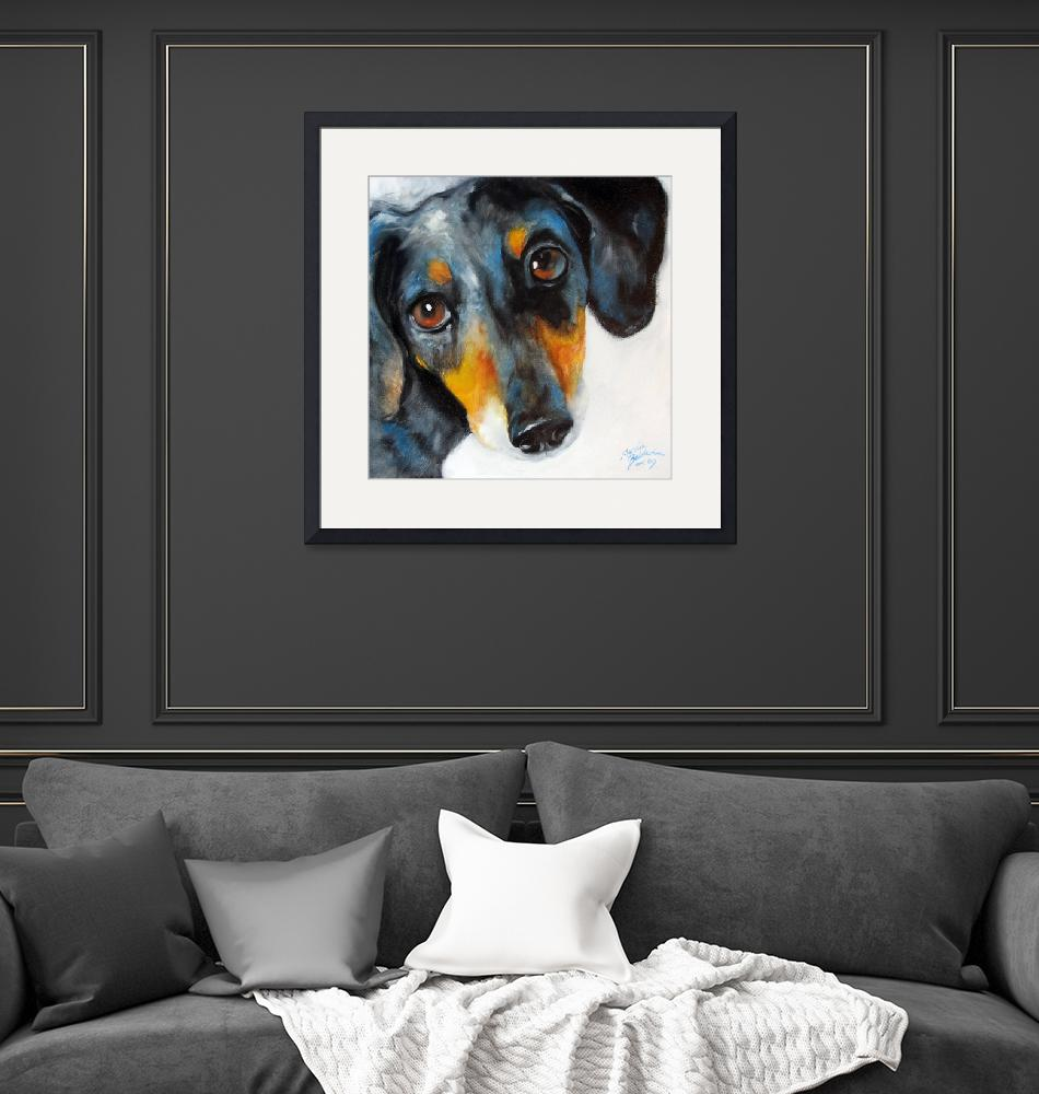 """DAPPLE DOXIE""  (2009) by MBaldwinFineArt2006"