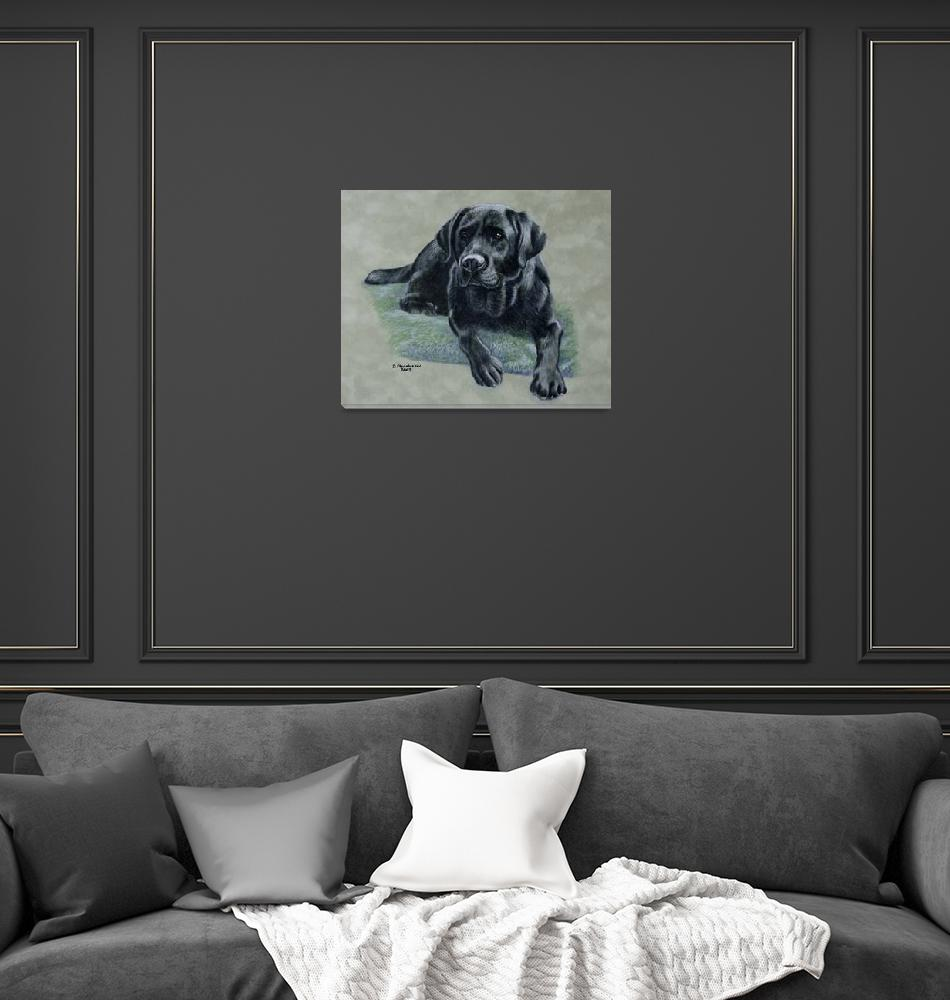 """Classic Black canvas version""  (2007) by dog-art"