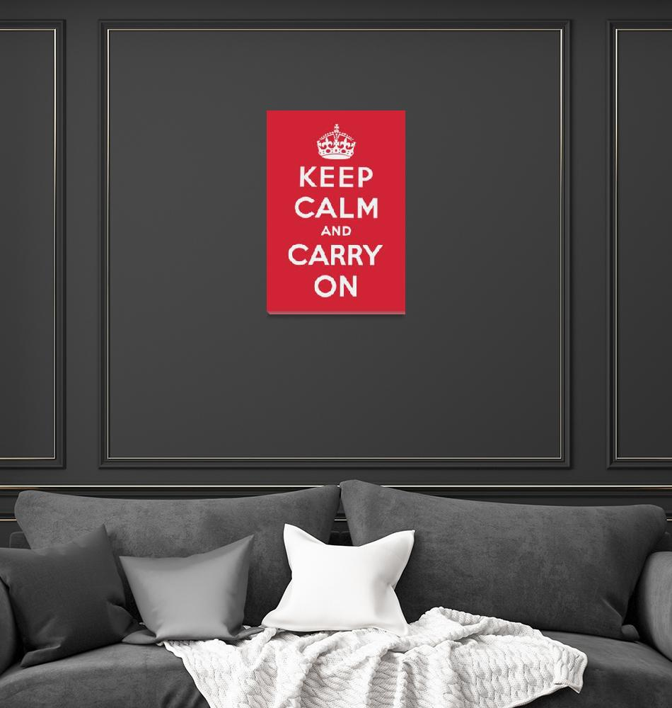 """Red Keep Calm And Carry On""  by oldies"