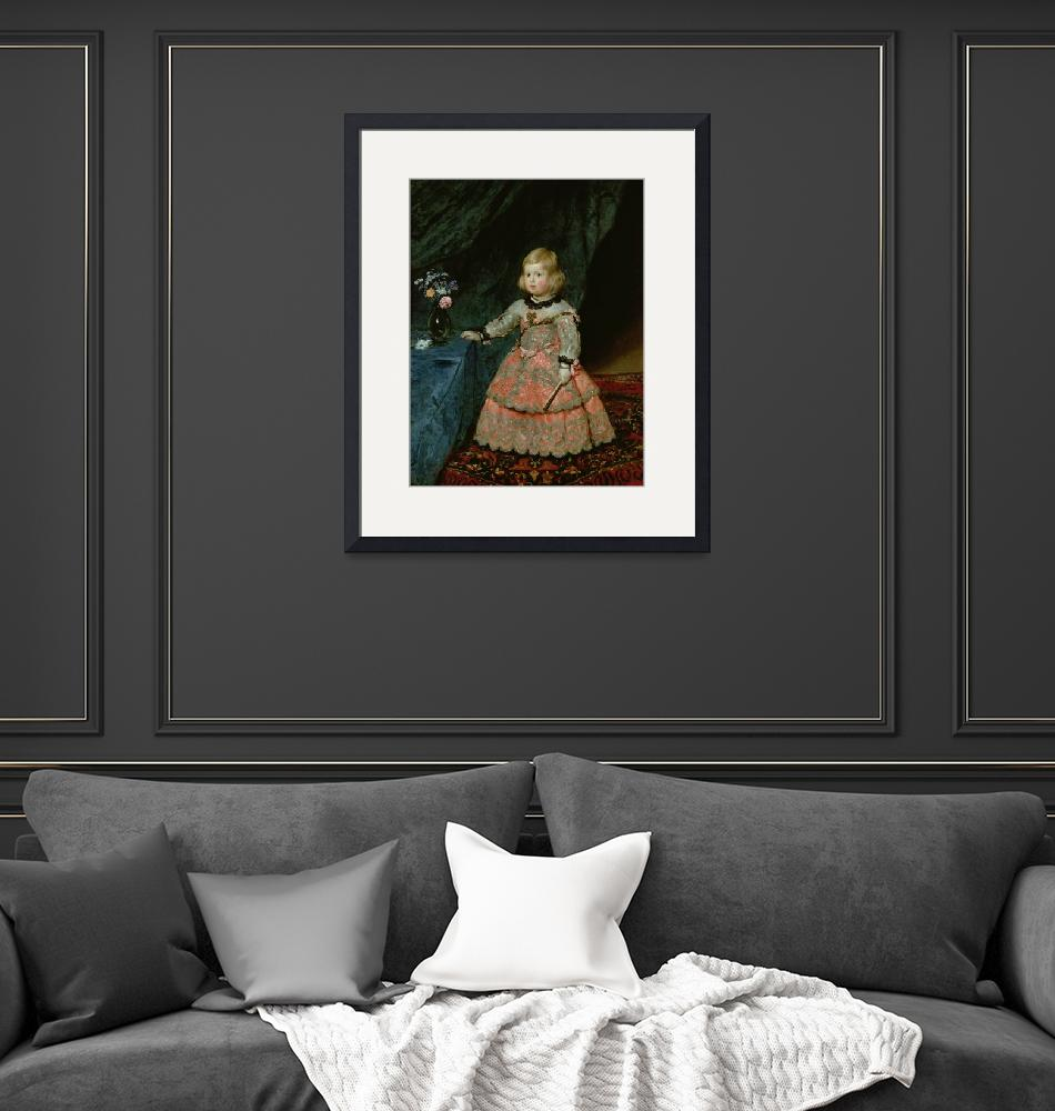 """""""The Infanta Margarita Teresa of Spain in a Red Dre""""  by fineartmasters"""