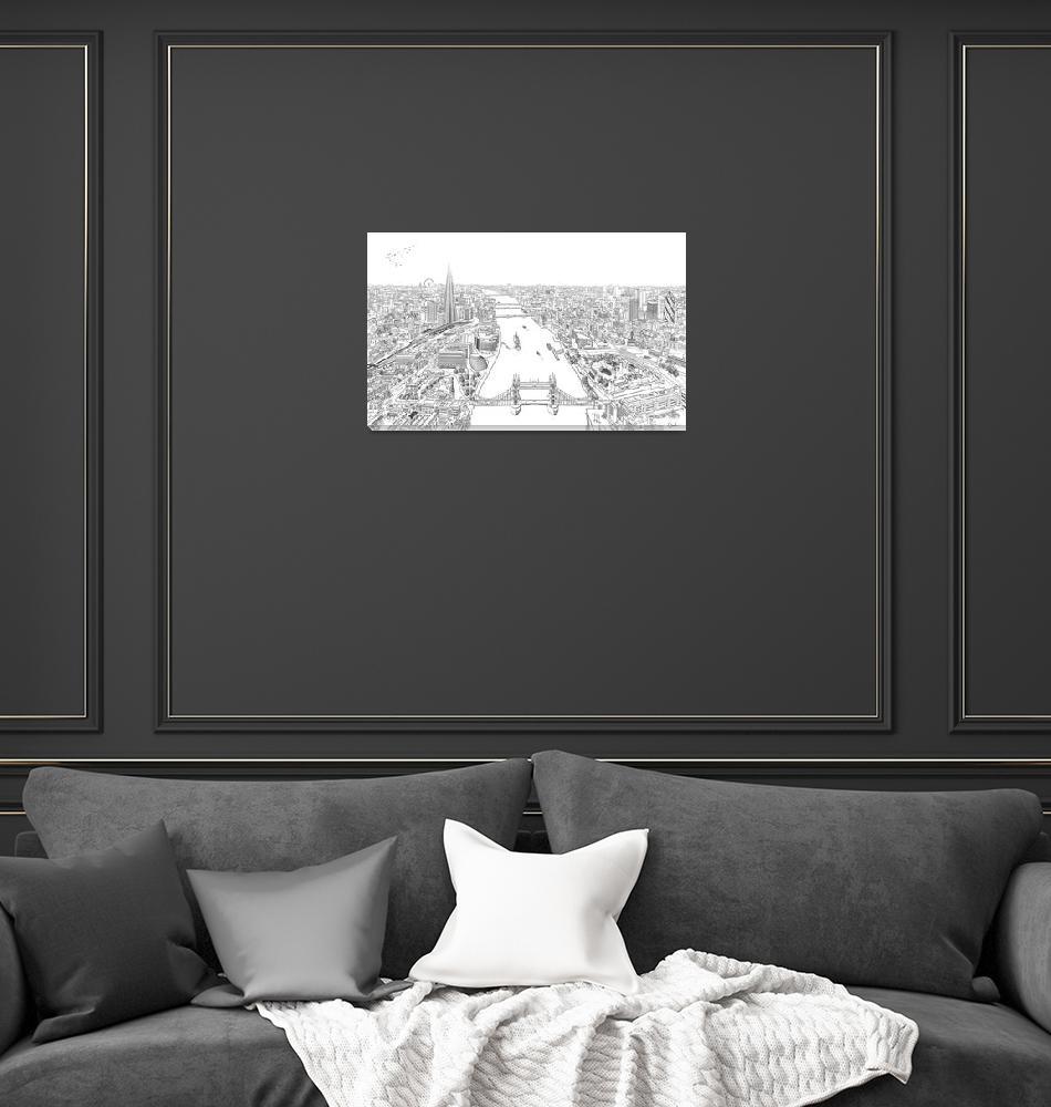 """""""london-skyline-illustration2""""  by CarolineLeprovost13"""