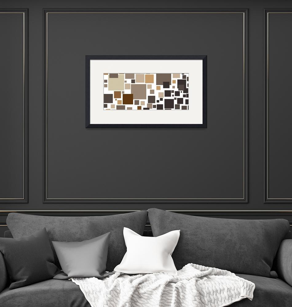 """""""Toffee Tiles: Abstract Art""""  by karynlewis"""