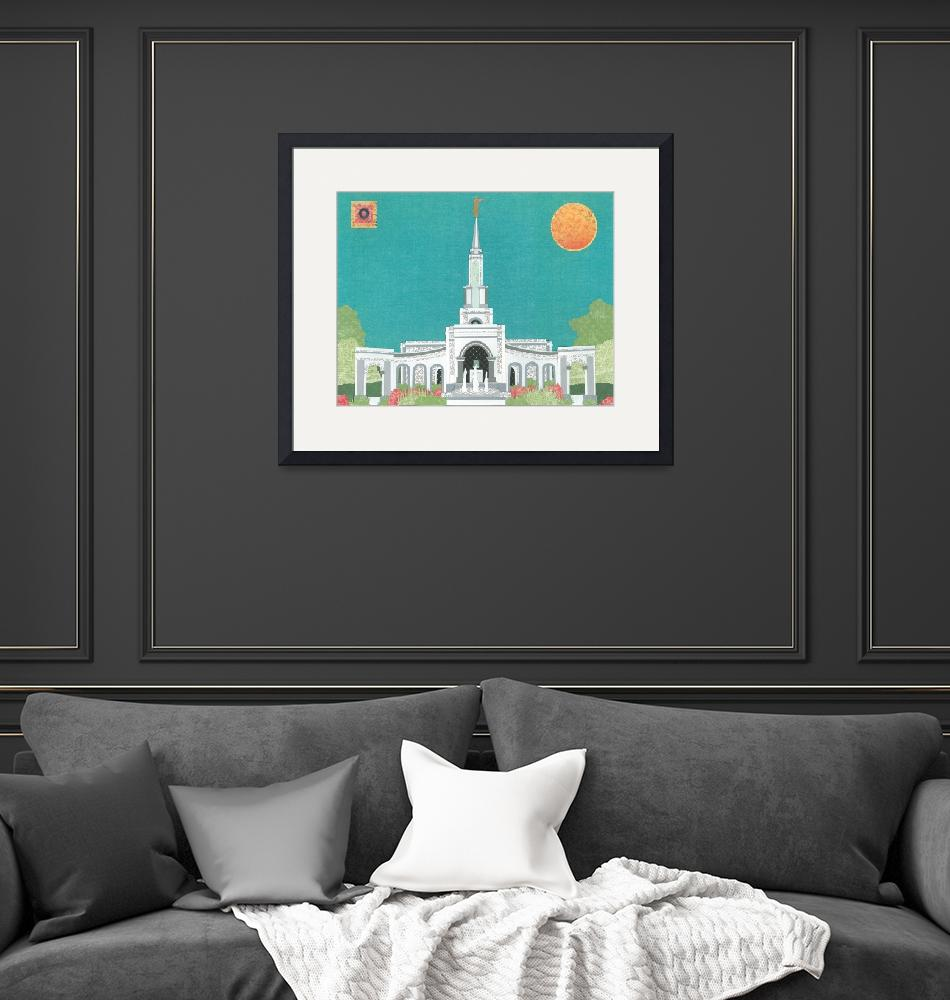 """""""Sacramento, California LDS Temple""""  (2012) by AZeleskiCollages"""