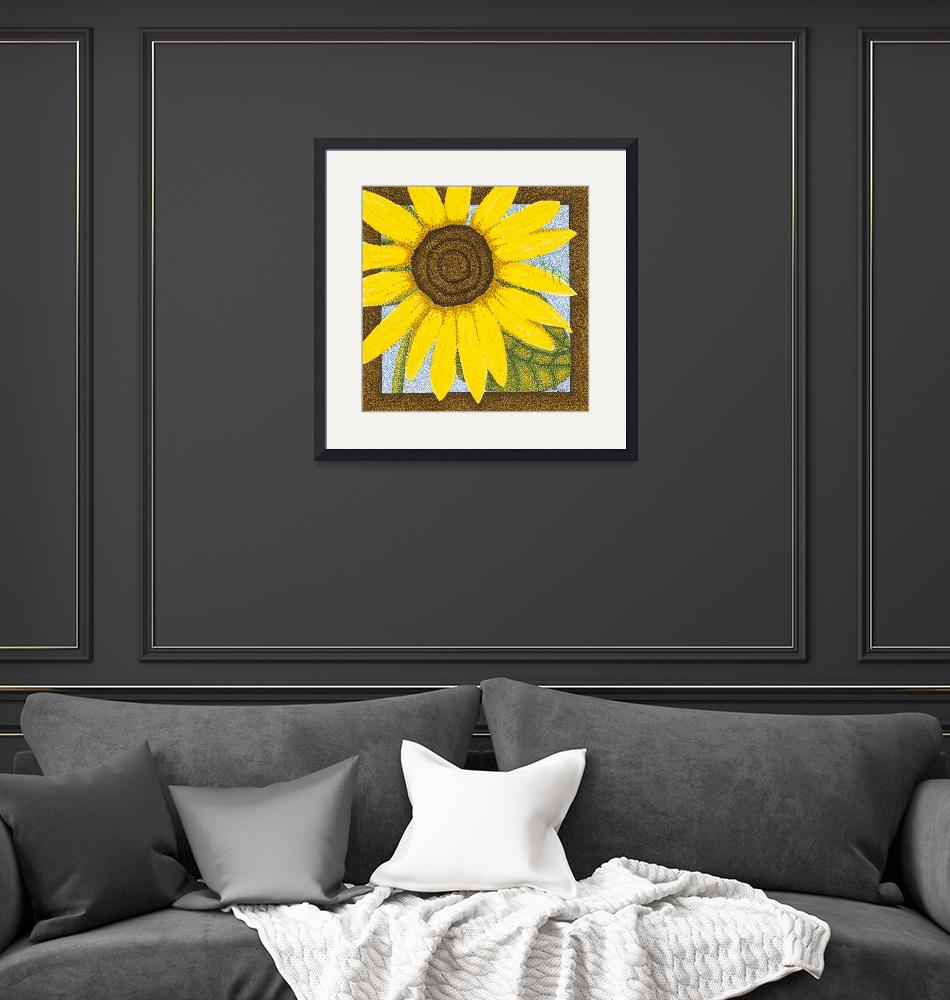 """""""Wee Sunflower 2""""  (2009) by ArtbyJudyNewcomb"""