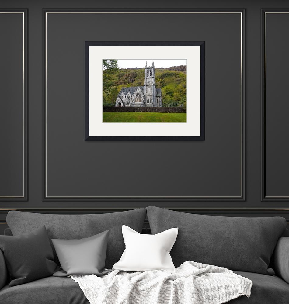 """""""Cathedral At Kylemore Abbey in Ireland""""  (2015) by FingerLakesPhotos"""