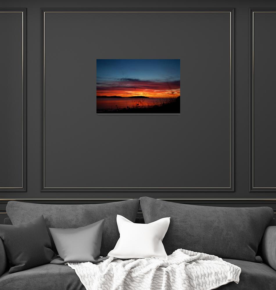 """""""Sunset over Lake Superior""""  by MikeShelafoe"""
