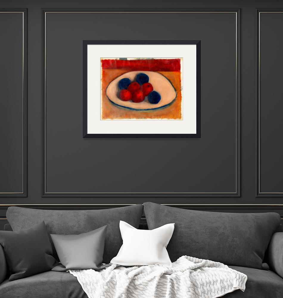 """Painting Study of Fruits on a Plate""  by visfineart"