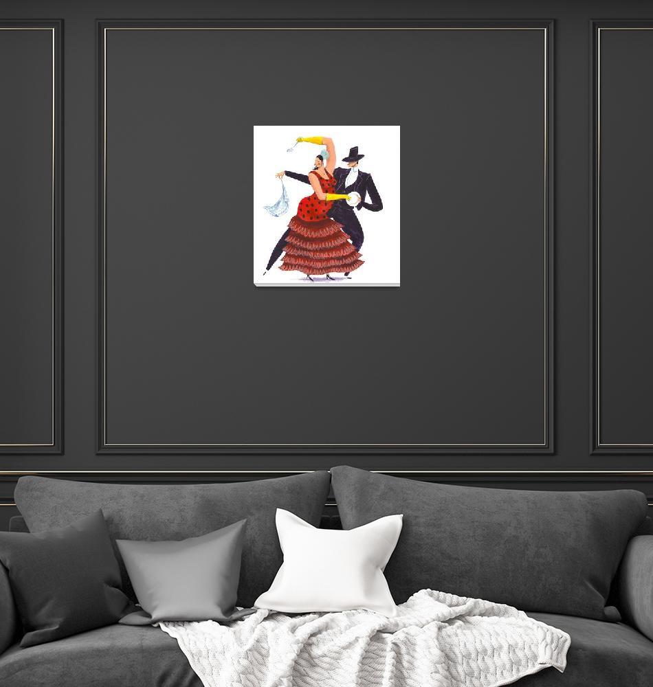 """""""Flamenco Dancers""""  (2007) by nikkobarber_illustration"""