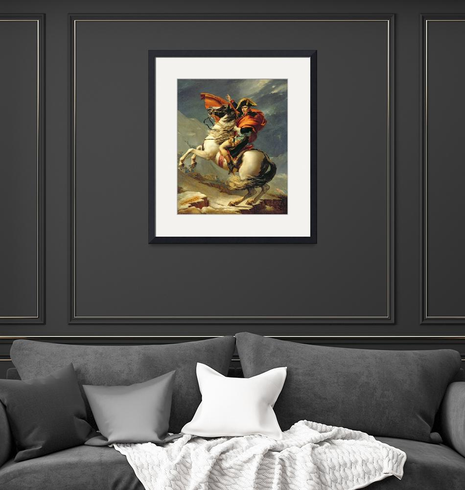 """""""Napoleon Crossing the Alps on 20th May 1800""""  by fineartmasters"""