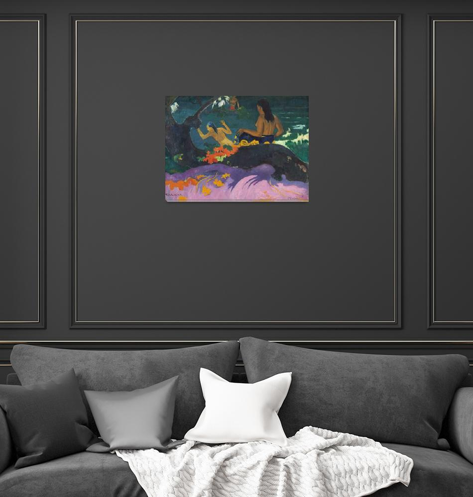 """""""By the Sea by Paul Gauguin""""  by FineArtClassics"""