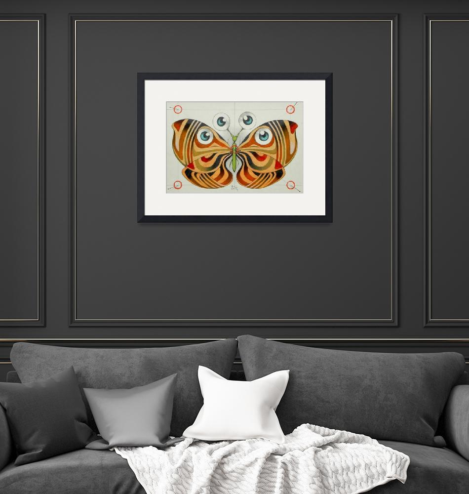 """""""four eyes butterfly""""  (2014) by federicocortese"""