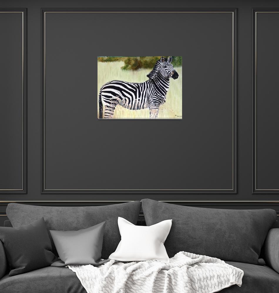 """Zebra""  (2019) by rosamansell"