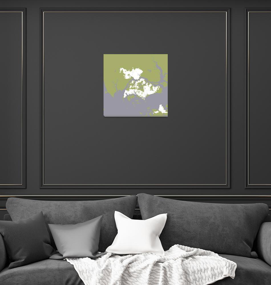 """""""Minimalist Modern Map of Singapore 11""""  by motionage"""