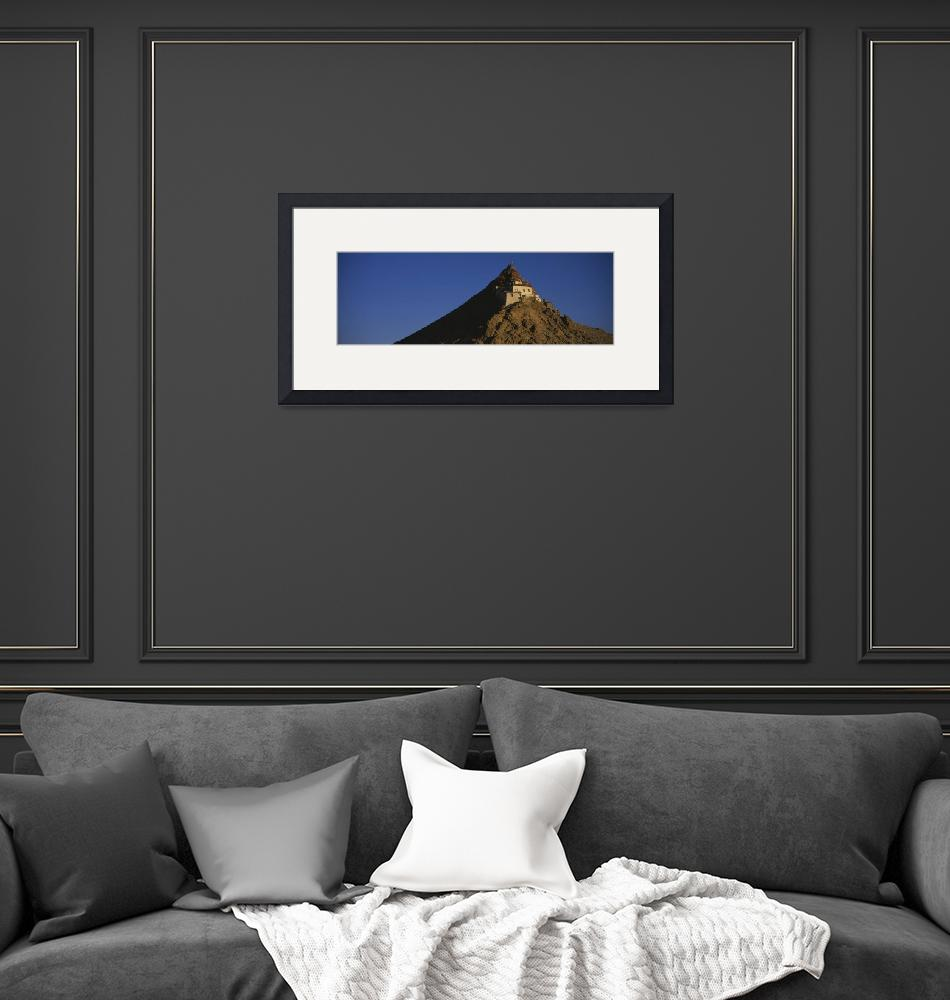 """""""Low angle view of a monastery on a mountain""""  by Panoramic_Images"""