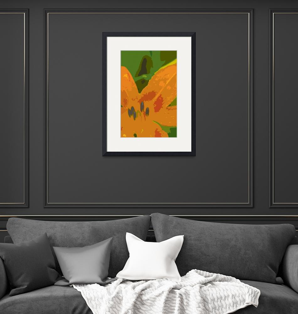 """""""Abstract Orchid""""  by LouisDorman"""