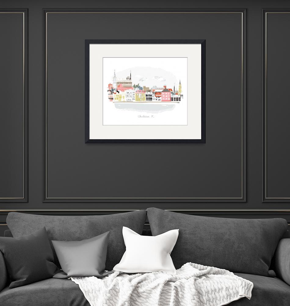 """""""Charleston Modern Cityscape Illustration""""  by AlbieDesigns"""