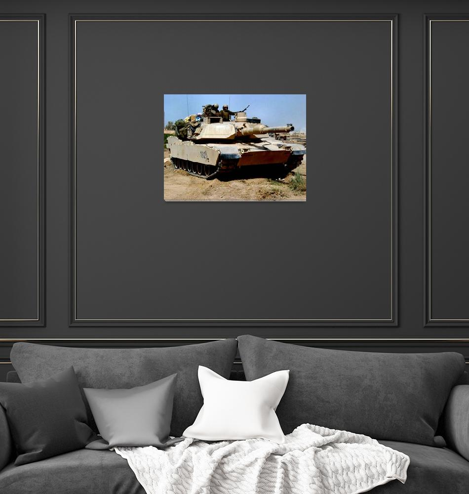 """""""M 1 Abrams Main Battle Tank in Middle East""""  (2014) by TheNorthernTerritory"""
